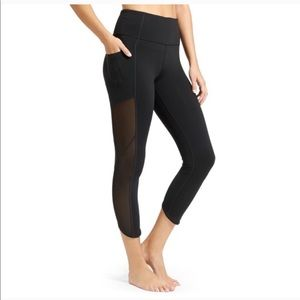 Athleta Black Side Mesh Panel Workout Legging LT